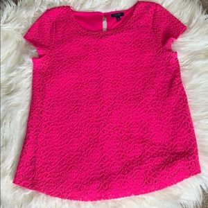 Kaari Blue Pink Crochet Blouse